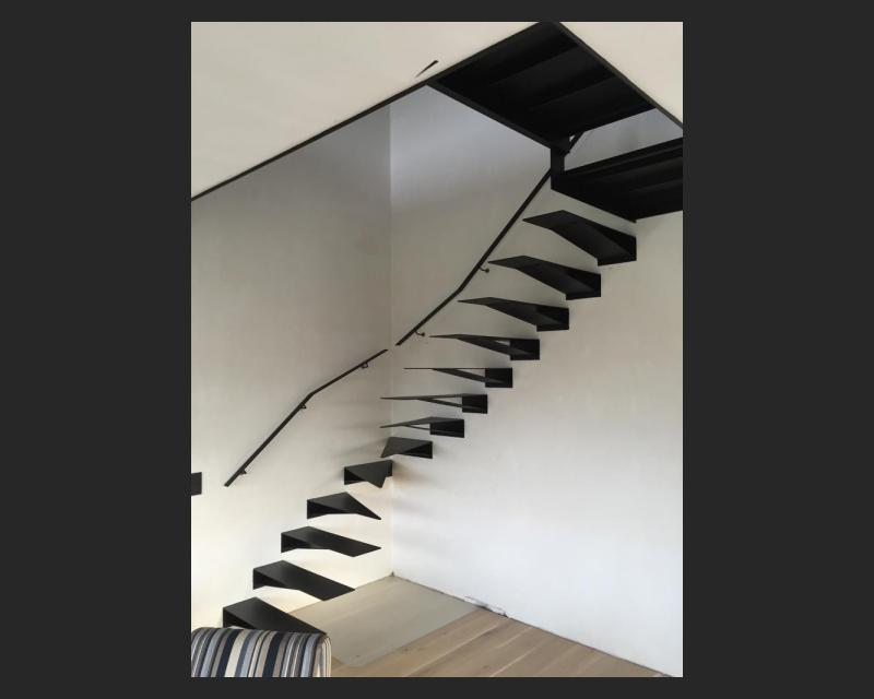 Zwevende trap - Woonhuis Herent