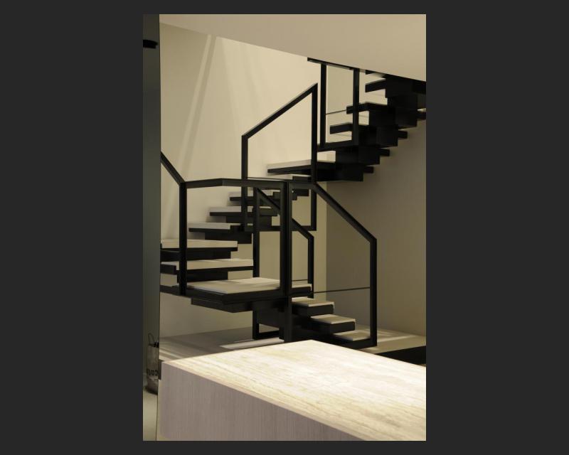 Zijzicht van de trap