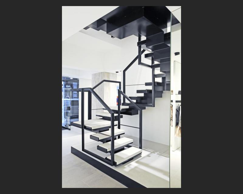 Detail beeld van de trap